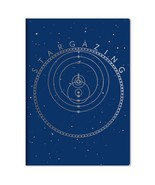 Stargazing Full Size Pocket NoteBook with Art Images To Chart The Univer... - $8.75