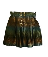 Metallic WALTER BAKER Sz 2 Ombré Brown Teal Green Bronze Jewel Tone Skirt - $19.79