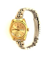 Vintage Tissot Automatic Day Date Gold Plated Swiss Made Ladies Wristwatch - $61.04