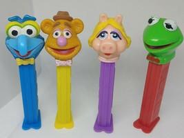 PEZ DISPENSER Lot of 4 THE MUPPETS Miss Piggy Kermit Fozzie Bear Gonzo  ... - $2.92