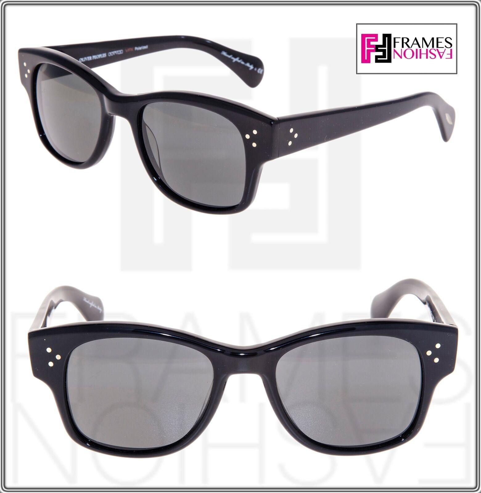 OLIVER PEOPLES Jannsson Sun OV5242S Shiny Black VFX Polarized Sunglasses 5242