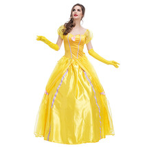 Disney Beauty and The Beast Adult Belle Costume Cosplay Fancy Dress - $45.39