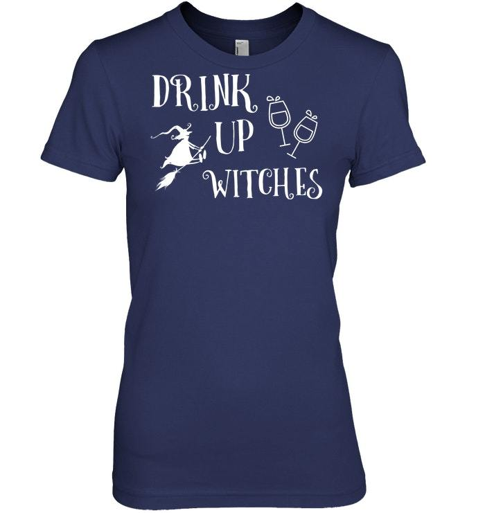 Funny Halloween Drink Up Witches Tshirt Gift Treat Trick
