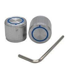 Taiss/ 2pcs Silver Aluminum Rotary Electronic Control Potentiometer Knob for 6 m - $19.96