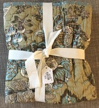 NEW Pottery Barn Neena One Standard Quilted Pillow Sham Warm Multi Blue ... - $34.65