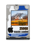 macOS Mac OS X 10.13 High Sierra Preloaded on 250GB Sata HDD - $24.99
