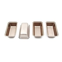 Mini Loaf Pan 6 Inch Bread Tin 4pc Non-stick Bakeware Baking Pans by LUF... - $22.14
