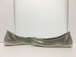Ecco Bluma Summer Ballerina Grey Women's Slip On Comfort Flats Size 36 /... - $48.11