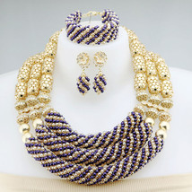 Beads Women Necklace Bridal Fashion Jewelry Wedding African Beads - $95.88