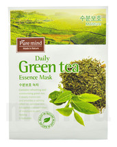 10 X Pure Mind Moisture Daily Green Tea Face Mask Essence Mask Made In Korea - $11.99