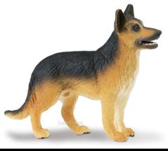 German Shepherd Dog Figurine Brown TAN Black PET SAFARI LTD Toy Animal New - $6.95