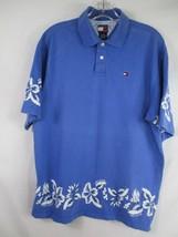 Tommy Hilfiger Boy's Size XL 100% Cotton Short Sleeve Floral Hawaiian Polo Shirt - $20.80