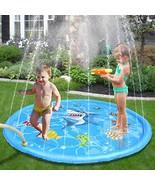 Splash Pad Shark Pattern Exciting Design Summer Water Toys Enhanced PVC ... - $23.97