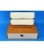 Authentic LOUIS VUITTON Suhali Leather Porte-Tresor Beige Leather Long W... - $296.01