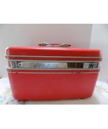 Vintage Retro SAMSONITE SILHOUETTE Candy Apple Red Train Case with Mirror - $36.40
