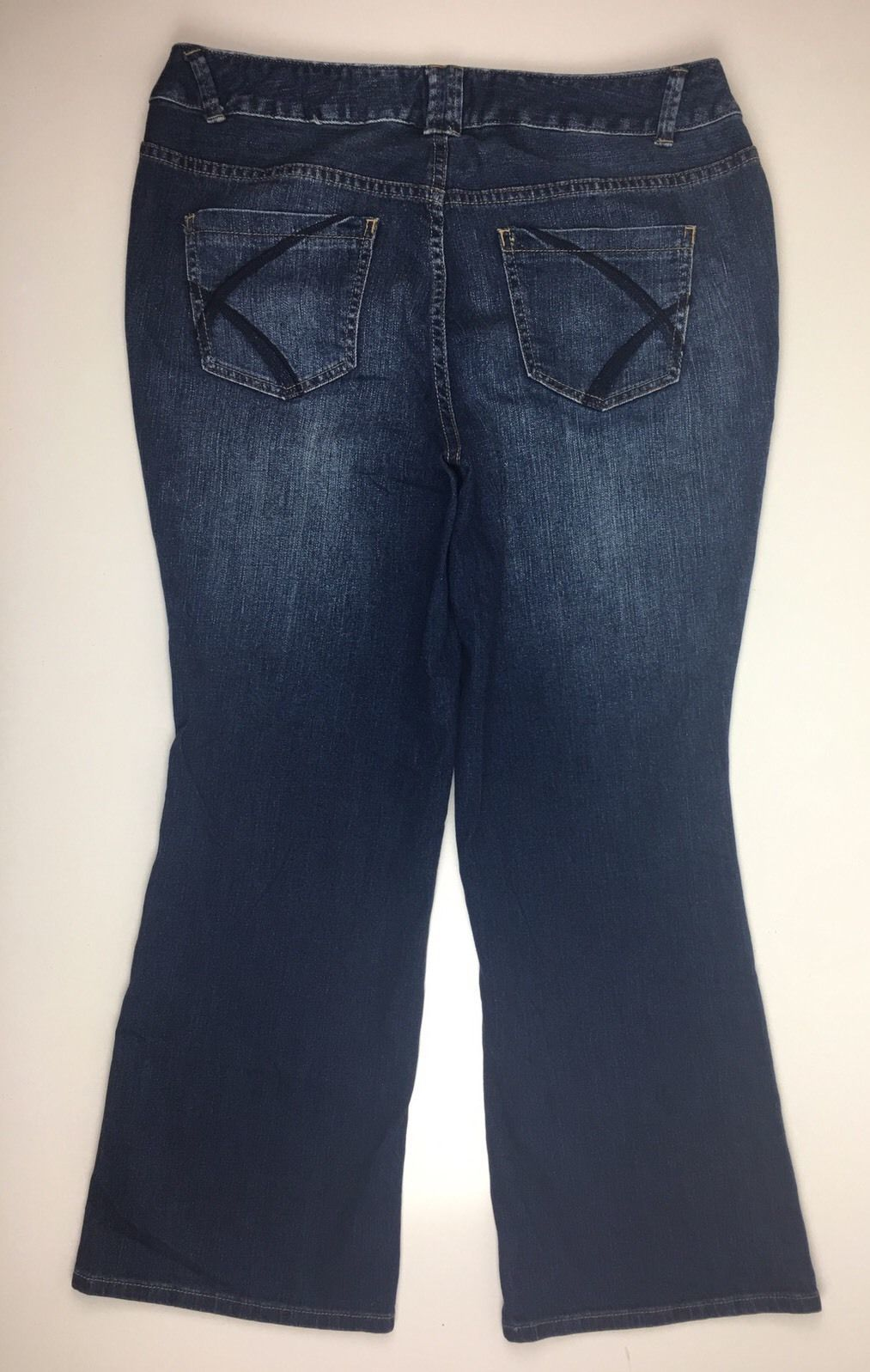 2e6405c1d4d Womens Lane Bryant Distinctly Boot Blue Stretch Denim Jeans Size 18 Petite