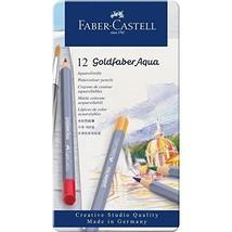 Faber-castell Creative Studio Goldfaber Aqua Watercolor Pencils - Tin Of 12 - $16.49