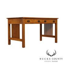 """Stickley Mission Collection Oak 54"""" Spindle Desk - $2,395.00"""