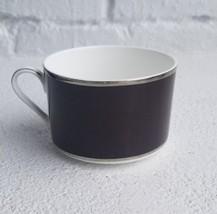 MIKASA Color Studio Brown W/Silver Band Coffee Mug Tea Cup Bone China  - $13.69
