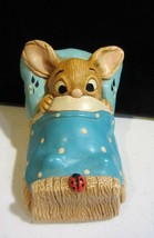 VINTAGE PENDELFIN WAKEY POCKET RABBIT HAND PAINTED MADE IN ENGLAND - $47.50