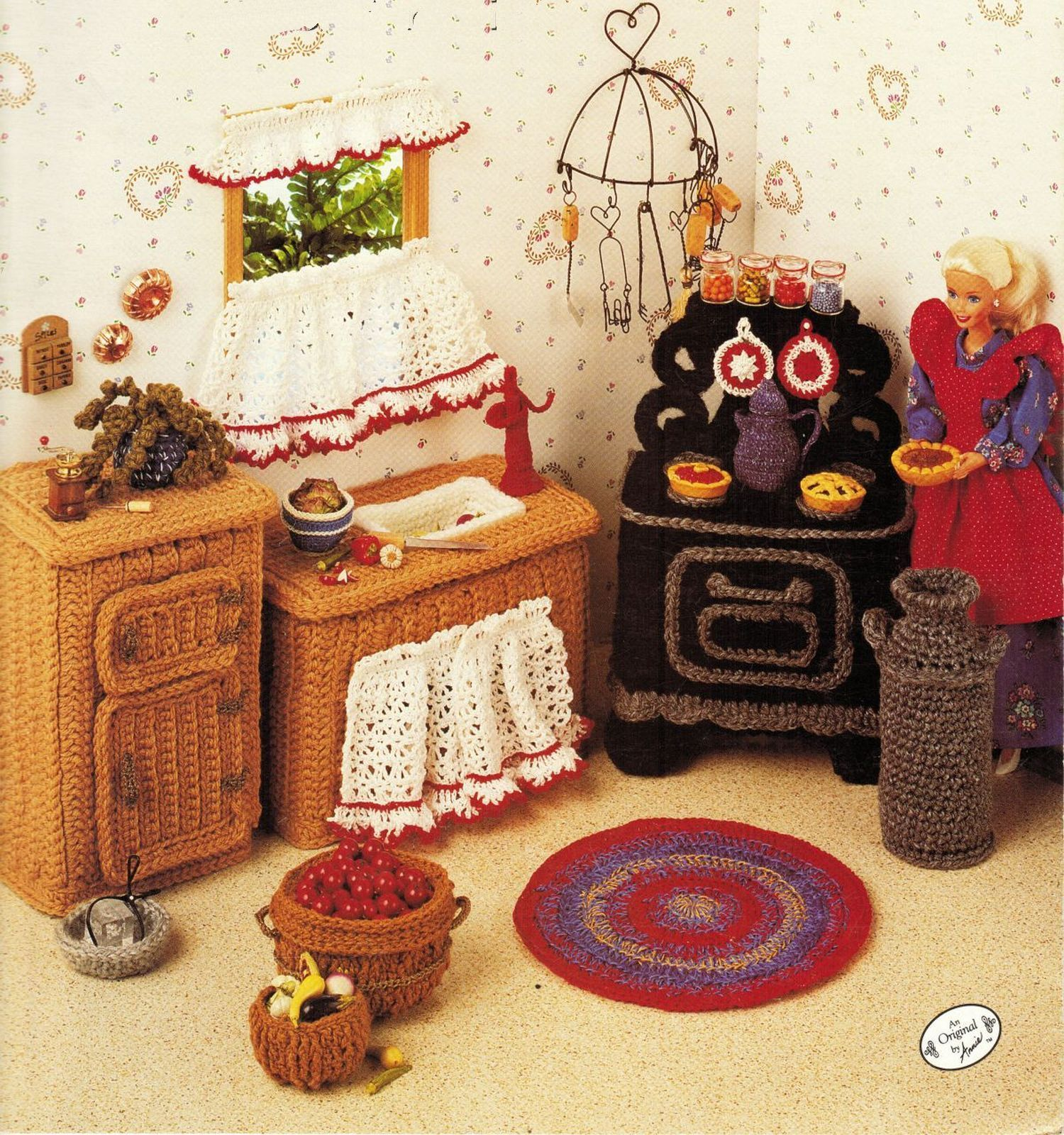 Primary image for Annie's Attic Fashion Doll Kitchen Furniture Stove Sink Ice Box Crochet Pattern
