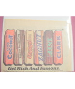 1977 Clark Bar Color Ad 6 Different Clark Bars Featured - $7.99