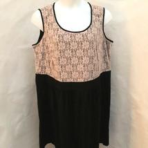 Style & Co 24W Dress Black Beige Floral Lace Plus Size - $29.38