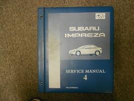 1996 Subaru Impreza Servicio Manual Volumen 4 Fábrica OEM Libro 96 Carpeta - $39.81