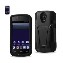 REIKO HUAWEI VITRIA HYBRID HEAVY DUTY CASE WITH KICKSTAND IN BLACK - $7.92