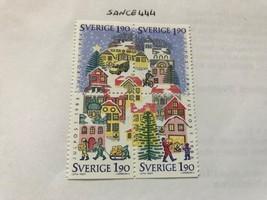 Sweden Christmas block mnh 1986 - $2.00
