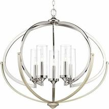 Progress Lighting P400117-104 5-60W CAND Chandelier, Polished Nickel - $399.00