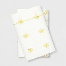 King 400 Thread Printed Performance Cotton Pillowcase White/Yellow Opalhouse image 1