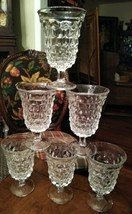 Set of Six Fostoria American Low Water Goblets Flared Top Round Foot - $26.99