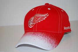 DETROIT RED WINGS - REEBOK NHL SPRAY BILL  HOCKEY CAP/HAT - OSFM ADJUSTABLE - $18.04