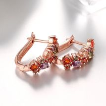 Colorful Ear Clip Dinner Earrings Made with Swarovski Elements image 6