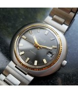Mens Bulla 43mm Gold-Plated Hand Wind w/Date, c.1970s Swiss Vintage SIW39 - $611.31