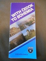 Old Vintage Fold Souvenir Brochure Pamphlet With Cedok to Bohemia Czecho... - $9.99
