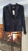 Vince. Navy Blue Linen Blend Blazer Sz 4 Retail $375.00 - $100.98
