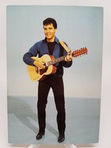 Vintage Elvis Presley Post Card Holding Guitar - $7.89