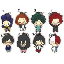 Anime My Hero Academia Boku no Hero Akademia Keychain Keyring Rubber Strap - $4.84+