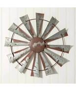 Farmhouse New WINDMILL large tin Wall hanging   - $98.00