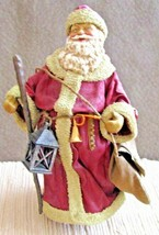 Old World Santa Claus Figure / Kurt Adler Santa With Toy Bag #W1506 In Box - $42.56
