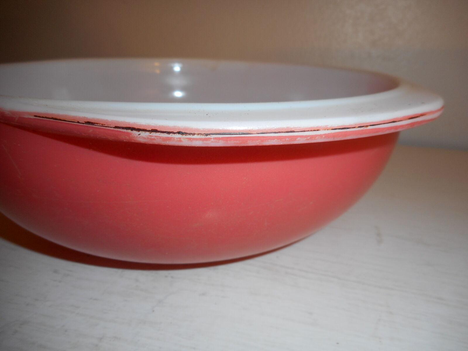 Vintage Pyrex Flamingo pink  024 2 Quart Casserole Dish well loved!