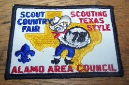 1978 Boy Scout Bsa Scout Country Fair Alamo Scouting Texas Style Patch - $11.39
