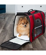 Pet Carrier Soft Sided Large Cat Dog Comfort Crimson Red Travel Bag FAA ... - $30.89