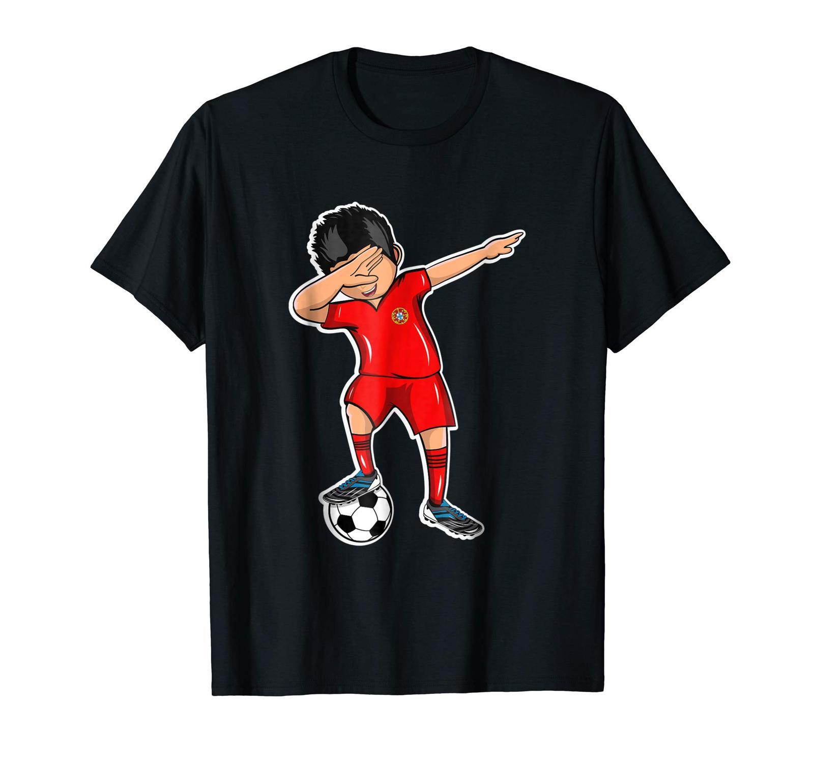 New Shirts - Dabbing Soccer Boy Portugal Jersey T Shirt Football Fan Men