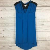 Urban Outfitters Silence + Noise Blue Black Shift Dress Size XS Sleeveless - £17.83 GBP