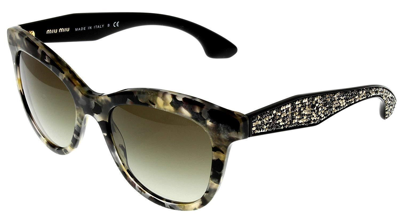 Miu Miu Sunglasses MU10PS DHE4M1 Women Havana Cateye