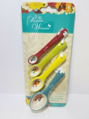 Primary image for The Pioneer Woman 4 Piece Wildflower Whimsy Stoneware Measuring Spoons