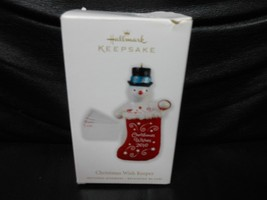 "Hallmark Keepsake ""Christmas Wish Keeper"" 2010 Part Fabric & Paper Ornam... - $2.97"